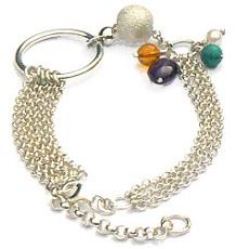 Handgemaakte zilveren armband Arco Iris van flamencosieraden.nl