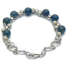 Handgemaakte zilveren design armband Cielo azul van flamencosieraden.nl