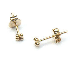 Gouden oorknopjes mini bolletjes