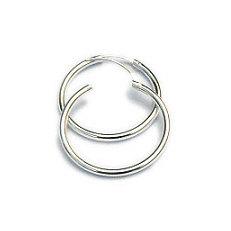 Zilveren creolen scharniersluiting 30 - 2