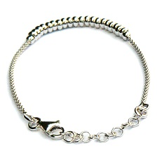 Zilveren armband ringetjes