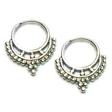 Zilveren barok creolen