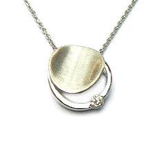 Zilveren hanger zirkonia met ketting