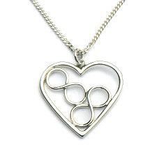 Handgemaakt zilveren hart met 2 infinity tekens