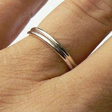 Zilveren ringen 1.5 mm dik om aan te schuiven
