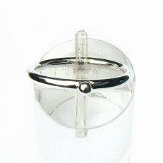 Zilveren aanschuifring bal 2.5 mm