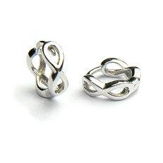 Zilveren klapcreolen infinity