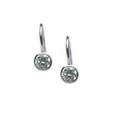 Zilveren oorhangers zirkonia 5 mm