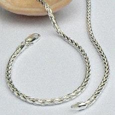 Zilveren vossestaart ketting 3 mm