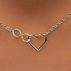 Zilveren ketting hart infinity verstelbaar op diverse lengtes
