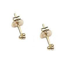 Gouden oorstekers 3 mini bolletjes