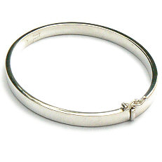 Zilveren bangle armband scharnier