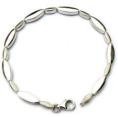 Zilveren fantasie armband gepolijst mat