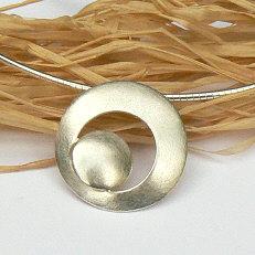 Handgemaakte zilveren hanger Circulos by Flamenco