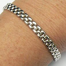 Zilveren armband schakels 19 cm 6.9 mm breed