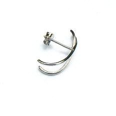 Zilveren oorstekers klem