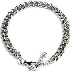 Zilveren armband gourmet 19 cm