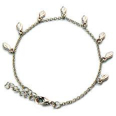 Zilveren armband met meerdere veertjes