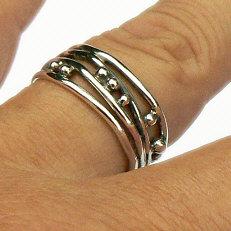 Handgemaakte zilveren ring Saona by Flamenco